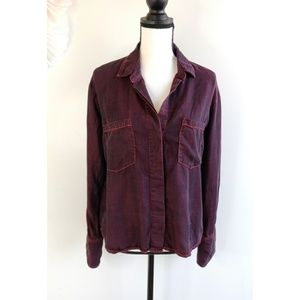 Anthropologie Cloth & Stone Red Button Up Shirt